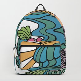 Seated Curvy Tail Mermaid Backpack