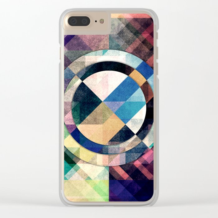 Textured Geometric Shapes Clear iPhone Case