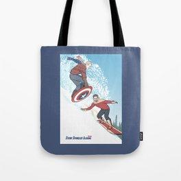 Stark Spangled Sledding (Recipe for a Concussion) Tote Bag