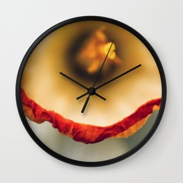 Daffodil Abstract Wall Clock