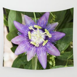 Purple Haze Perfume Passion Flower In Bloom Wall Tapestry