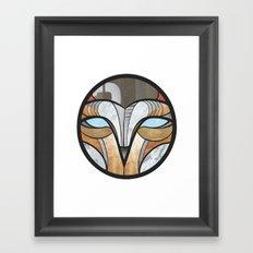 owl face Framed Art Print
