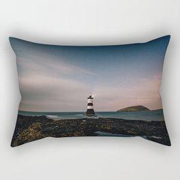 Evening Lighthouse Rectangular Pillow