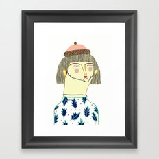 Women. fashion, fashion illustration, fashion print, fashion art, pattern, people, Framed Art Print