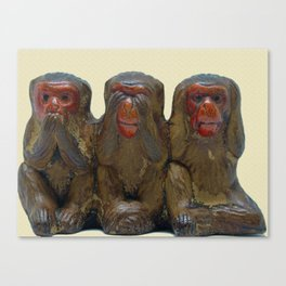 Three Wise Monkeys Canvas Print