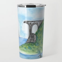 Irish Seaside Ruins Travel Mug