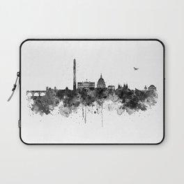 Washington DC Skyline Black and White Laptop Sleeve