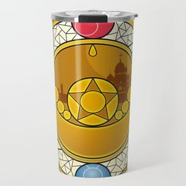 Sailor Moon Crystal stained glass window Transformation Brooch Travel Mug