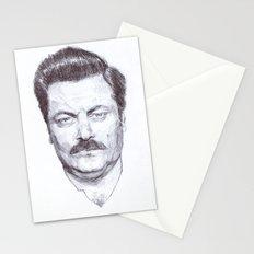 Ron Fucking Swanson Stationery Cards