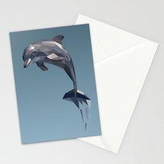 Geometric Dolphin Stationery Cards