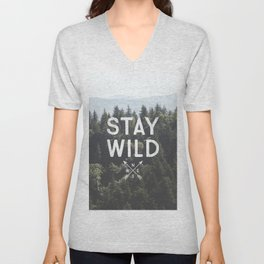Stay Wild - Mountain Pines Unisex V-Neck
