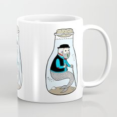 A Merman In Captivity Passing Gas In A Bottle  Mug