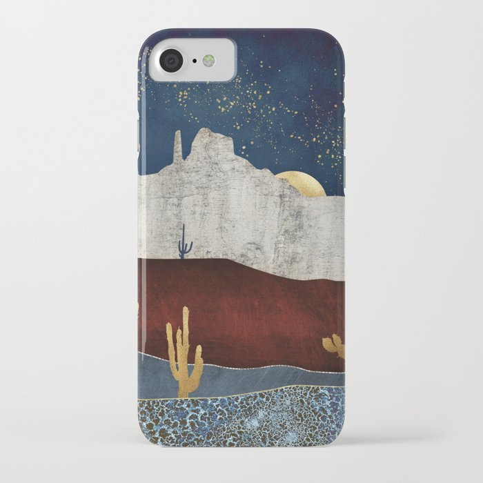 moonlit desert iphone case