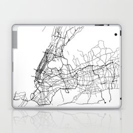 Minimal City Maps - Map Of New York, United States Laptop & iPad Skin
