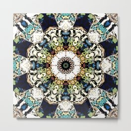 Earth Tones Kaleidoscope Metal Print