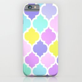 Morrocan Pastel iPhone Case