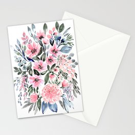 """Loose watercolor floral bouquet, """"Clara"""" Stationery Cards"""