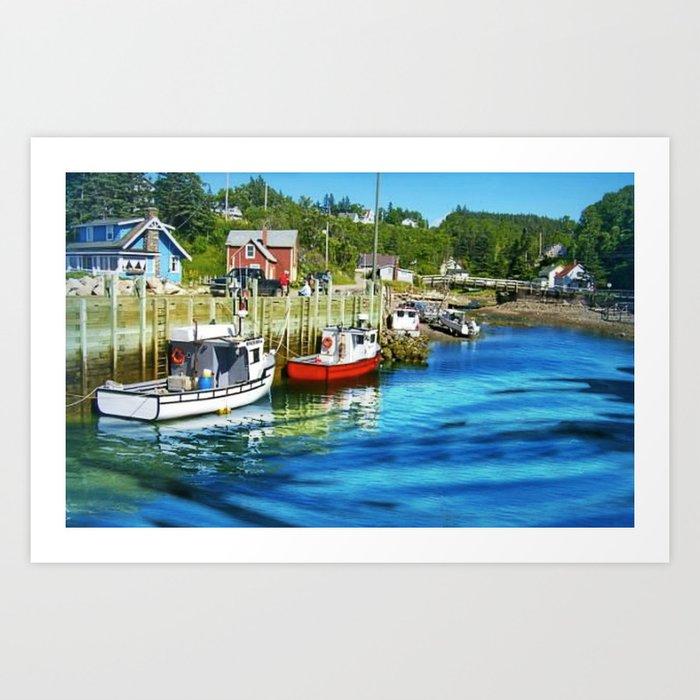 Harbourville, Nova Scotia Art Print