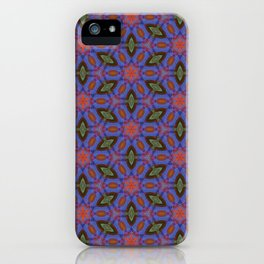Vibrant blue hexagons iPhone Case