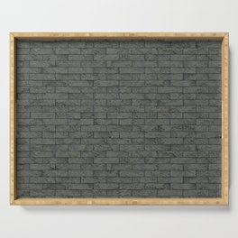 Grey Stone Bricks Wall Texture Serving Tray