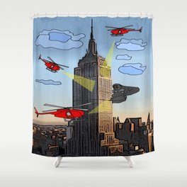 EMPIRE STATE COMIC Shower Curtain