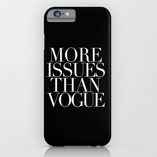 VOGUE {ISSUES} iPhone & iPod Case