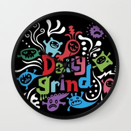 Daily Grind - black Wall Clock