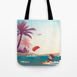 Kite surfer Woman Theme Tote Bag