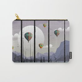 Grunge Dripping Sunset Celebration - purple Carry-All Pouch