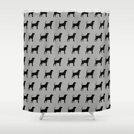 Coonhound Silhouette Shower Curtain