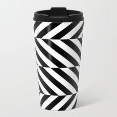 Black and White Op Art Design Metal Travel Mug