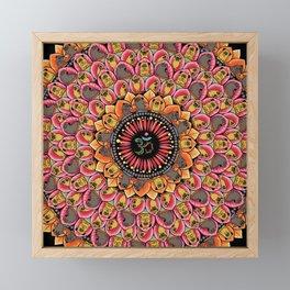 Pug Yoga Mandala Framed Mini Art Print