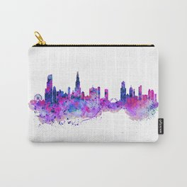 Chicago Watercolor Skyline 2 Carry-All Pouch