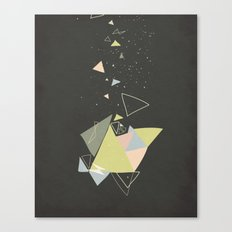 Exploding Triangles//Five Canvas Print