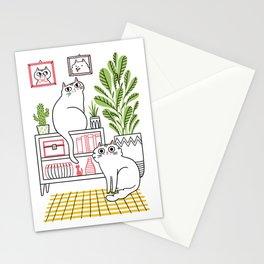 Cat Decor Stationery Cards