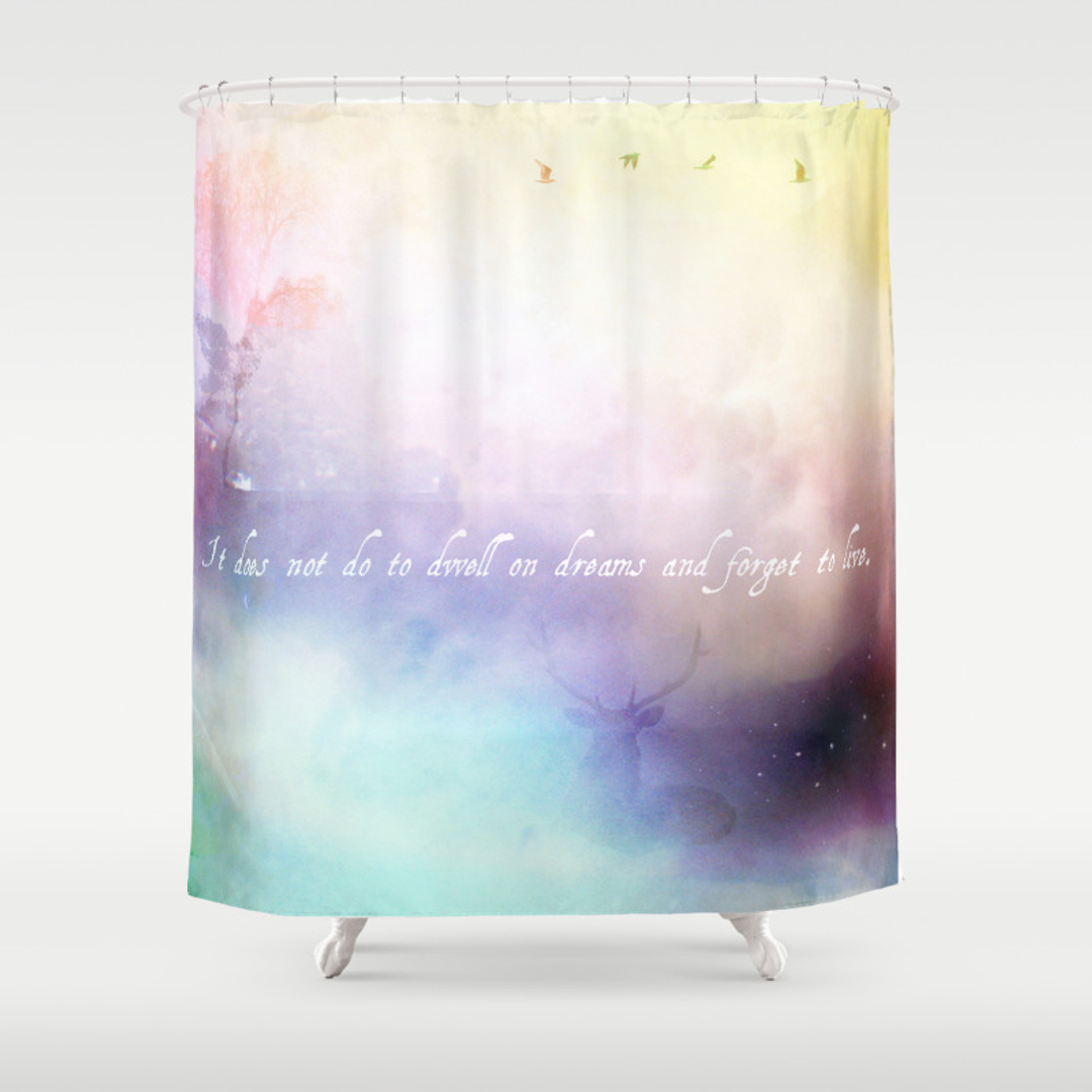 hufflepuff shower curtains  society -