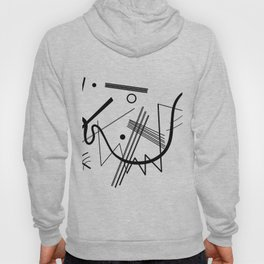 Kandindky - Black and White Abstract Art Hoody
