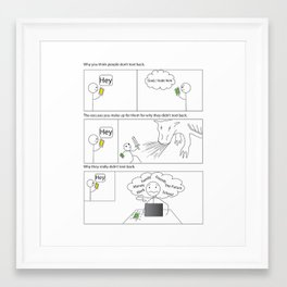 Problems with Texting Framed Art Print