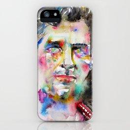 JACK KEROUAC - watercolor portrait.4 iPhone Case