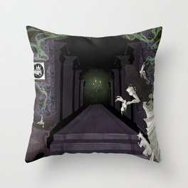 Ghost Host Throw Pillow
