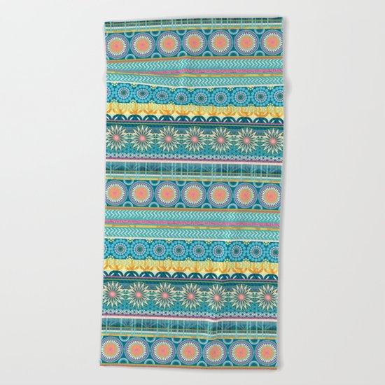 Blue Streaks Beach Towel