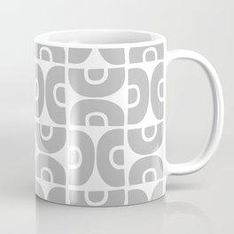 Groovy Mid Century Modern Pattern Gray Coffee Mug