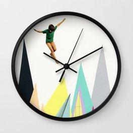 Mountain Jump Wall Clock