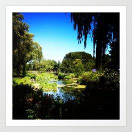 Monet's Garden in Chicago Art Print