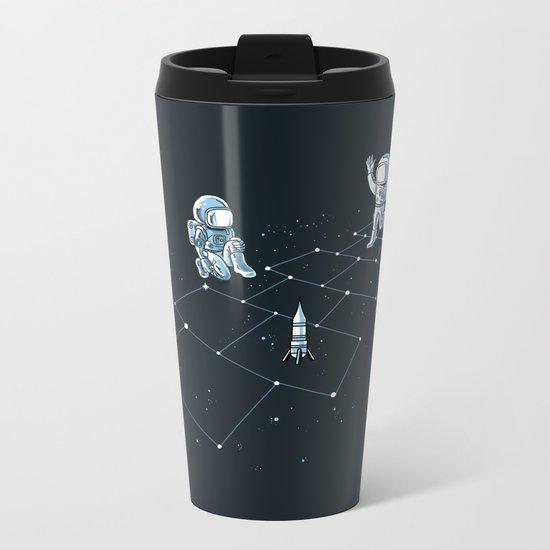 Hopscotch Astronauts Metal Travel Mug