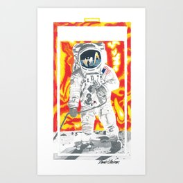 """Vocal Power """"Sound of Space Band"""" Art Print"""