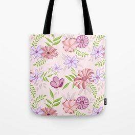Flowers dancing around Tote Bag
