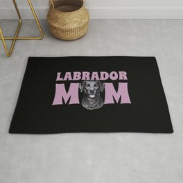 Black Labrador Mom Rug