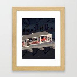 Black Swans 11:50 pm Framed Art Print