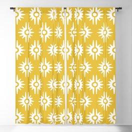 Mid Century Modern Bang Pattern 271 Must Yellow Blackout Curtain